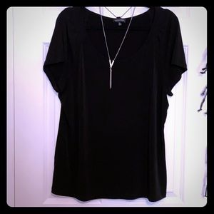 Notations Blouse w/ Attached Necklace